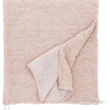 Ręcznik z gniecionego lnu NYYTTI 38x38 Cynamonowy