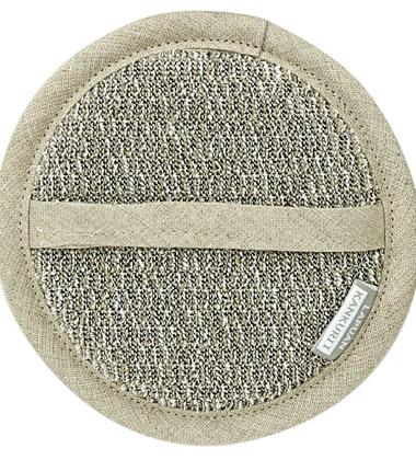 Myjka Meri Cosmetic Sponge 15 cm Biało-Lniano-Szara