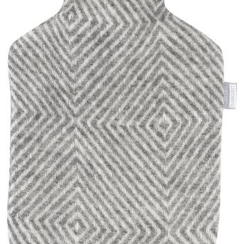 Termofor z wełny z wzorem PYRY 2L Szaro-Biały