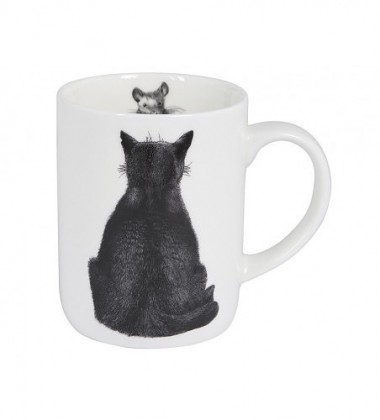 Kubek z porcelany z kotem 350 ml Casual Cats Watching