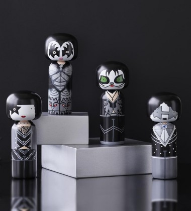Komplet Laleczek Kokeshi 14,5 cm THE KISS Set 4