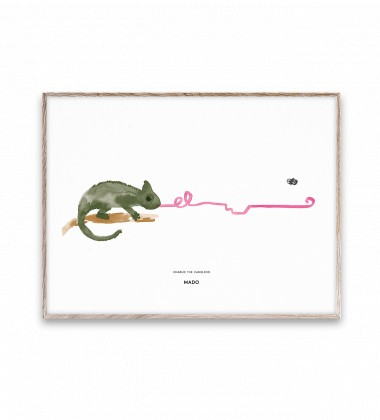 Poster 30x40 CHARLIE THE CHAMELEON by Mado