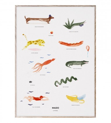 Poster 50x70 MADO and FRIENDS by Mado