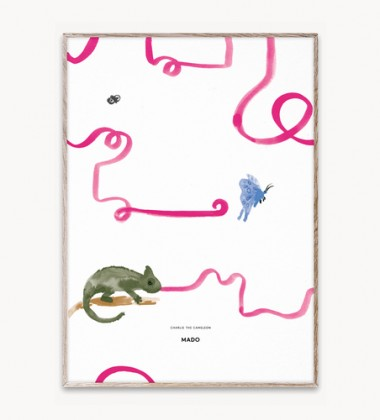 Poster 50x70 CHARLIE THE CHAMELEON by Mado