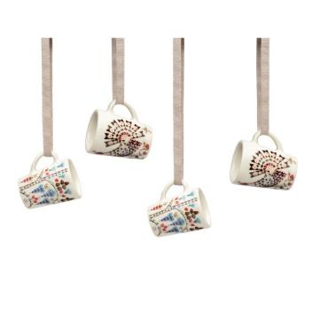 Komplet 4 mini kubeczków z porcelany TAIKA SIIMES