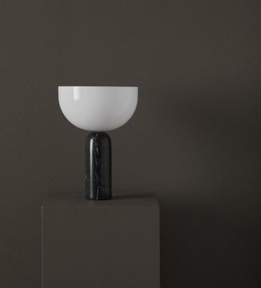 Lampa stołowa Kizu Marble Large H45 cm Czarny Marmur