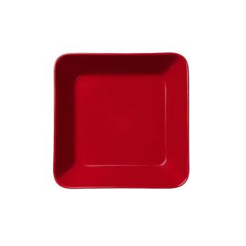 Talerz z porcelany Teema plate 16 x 16 cm Red