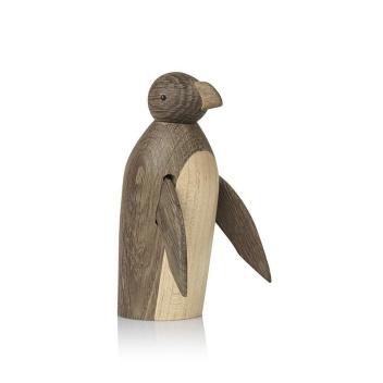 Drewniany pingwin PENGUIN 12,5 cm Klon-Ciemny Dąb