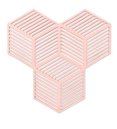 Silikonowe Podkładki Sico Set 4 Różowe