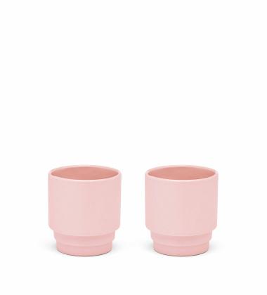 Kubeczki do espresso MONDAY ESPRESSO Set 2 Różowe