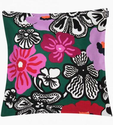 Poszewka na poduszkę Marimekko Kaukokaipuu 45x45 Zielono-Różowa