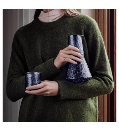 Komplet karafka i 2 szklanki Ultima Thule Rain 200 ml i 500 ml Set 3 Niebieskie