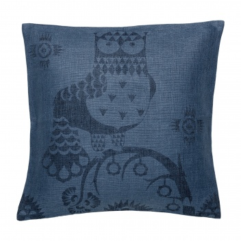 Poduszka lniana Taika cushion cover 50x50 cm Granatowa