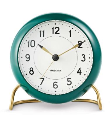 Zegarek Budzik AJ Station Table Clock Szmaragdowo-Złoty