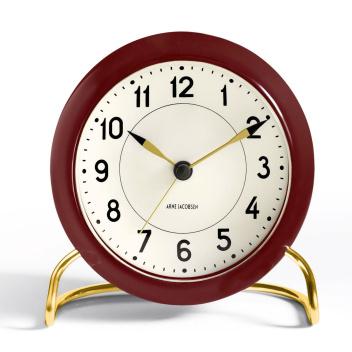 Zegarek Budzik AJ Station Table Clock Bordowo-Złoty