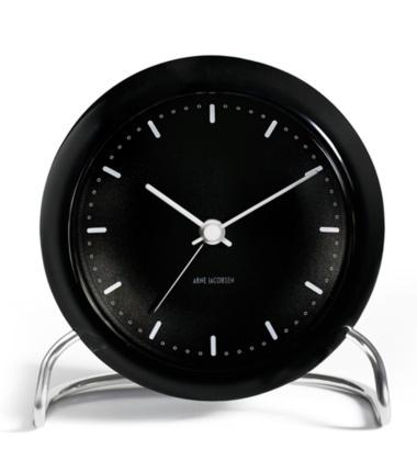 Zegarek Budzik AJ City Hall Table Clock Czarny