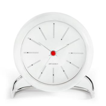 Zegarek Budzik AJ Bankers Table Clock Biały