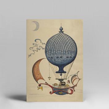 Poster 30x40 Hans Bolling 1961 r BALLOON TRAVEL