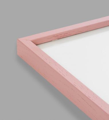 Ramka drewniana 50x70 Mado Różowa