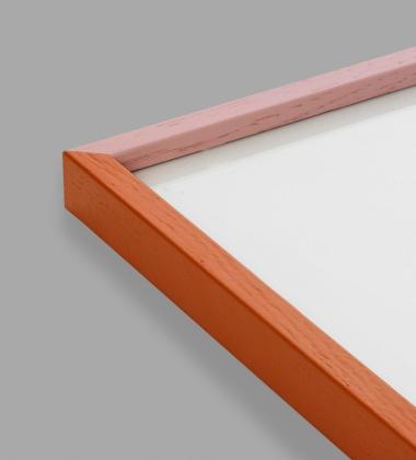 Ramka drewniana 50x70 Mado Różowo-Pomarańczowa
