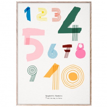 Poster 50x70 SPAGHETTI NUMBERS by Mado