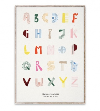 Poster 50x70 ALPHABET SPAGHETTI English Colourful by Mado