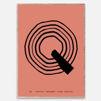 Poster 30x40 SPAGHETTI - Q by Mado Różowy