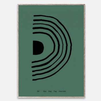 Poster 30x40 SPAGHETTI - D by Mado Zielony
