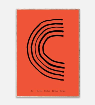 Poster 30x40 SPAGHETTI - C by Mado Koralowy
