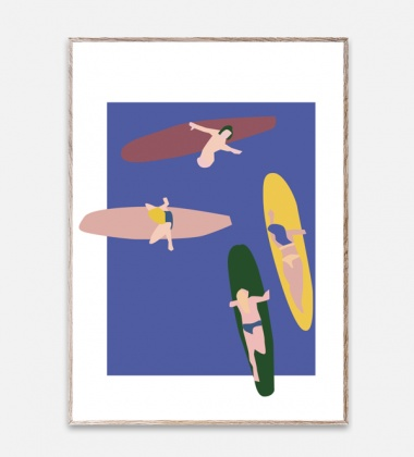 Poster 50x70 SURFERS by Helena Ravenne