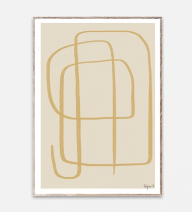 Poster 50x70 Different Ways II Yellow By Robin Ahlgren