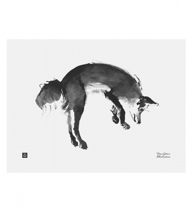 Poster lis Teemu Jarvi 30x40 LEAPING FOX