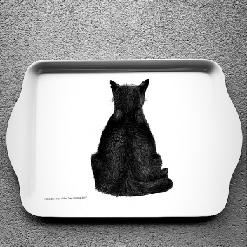 Taca z melaminy 21x14 Casual Cats Watching Kotki