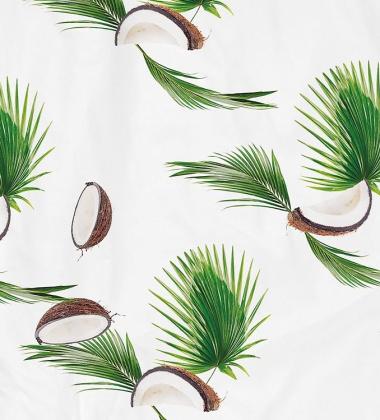 Pościel bawełniana w kokosy 140x200 COCONUTS