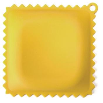 Podstawka silikonowa pod łyżkę RAVIOLI Żółta