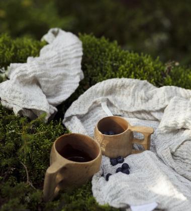 Ręcznik z gniecionego lnu NYYTTI 38x38 Lniany