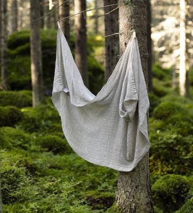 Ręcznik z gniecionego lnu NYYTTI 65x130 Lniany