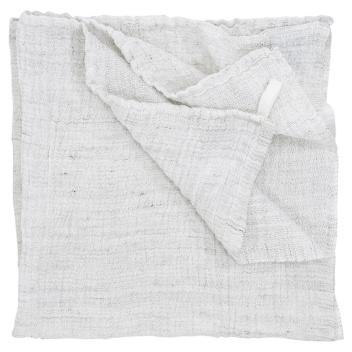 Ręcznik z gniecionego lnu NYYTTI 65x65 Biały