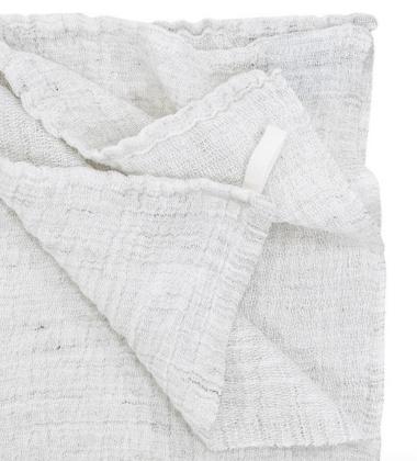 Ręcznik z gniecionego lnu NYYTTI 95x180 Biały