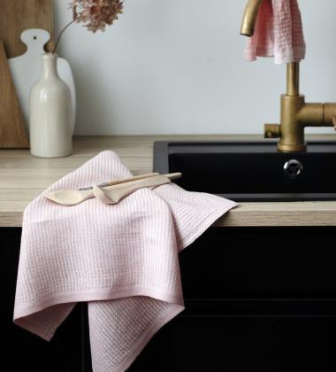 Ścierka kuchenna KUMPU 44x70 Różowa