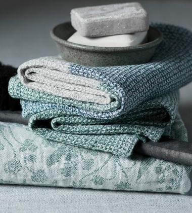 Ręcznik kąpielowy Terva 65x130 Biało-Multi-AspenGreen