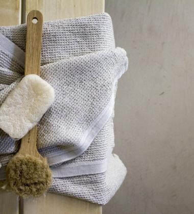 Ręcznik kąpielowy TERVA 65x130 Biało-Lniany