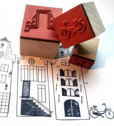 Komplet drewnianych Stempli Make-a-Scene AMSTERDAM