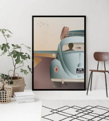 Poster 50x70 VW BEETLE By ViSSEVASSE