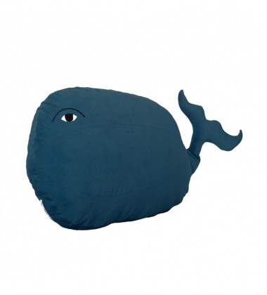 Wiggly Whale Bean Bag 65 x 45 Blue