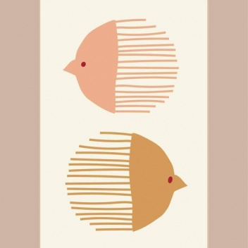 Poster 50x70 BIRD AND FISH By ViSSEVASSE