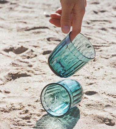 Komplet szklanek RAAMI Tumbler 26 cl Set 2 Sea Blue Morski