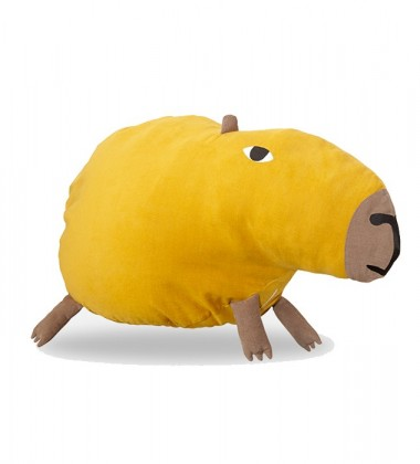 Curious Capybara Bean Bag 70x30 Mustard