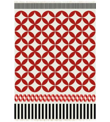 Kilim wełniany CATANIA ALFOMBRA RED 150x200 by Sandra Figuerola EXPO