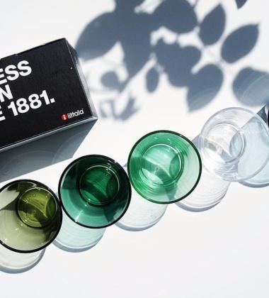Szklanki Kartio Glass 210 ml Set of 2 Zieleń Mchu
